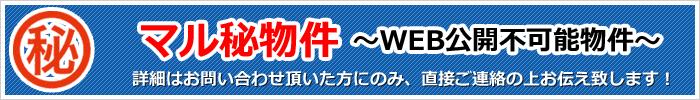 マル秘物件~WEB公開不可能物件~